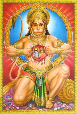 Hanuman is the monkey ...